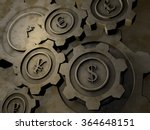 currency cogwheels | Shutterstock . vector #364648151