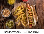 Fresh Made Hot Dog  Close Up...
