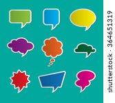 set of nine colorful dialog...   Shutterstock .eps vector #364651319