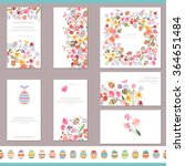floral spring templates with... | Shutterstock .eps vector #364651484