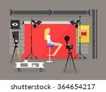 photo studio interior with model | Shutterstock .eps vector #364654217