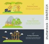nature issue deforestation ... | Shutterstock .eps vector #364655114