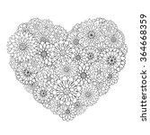 Hand Drawn Flower Heart For...
