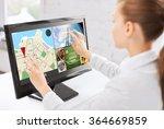 businesswoman with computer...   Shutterstock . vector #364669859