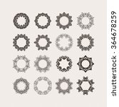 set of ornate vector mandala... | Shutterstock .eps vector #364678259