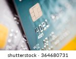 close up of a green credit card | Shutterstock . vector #364680731