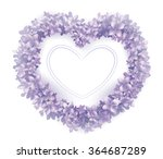 Lilac Flower Heart