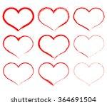 set of hearts | Shutterstock .eps vector #364691504