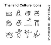 thai culture icons  culture... | Shutterstock .eps vector #364695629