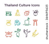 thai culture icons  culture... | Shutterstock .eps vector #364695635