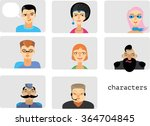 icons with faces of people of... | Shutterstock .eps vector #364704845