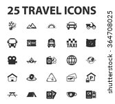 travel icons set.  | Shutterstock .eps vector #364708025