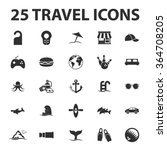 travel icons set. | Shutterstock .eps vector #364708205