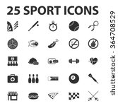 sports icons set.  | Shutterstock .eps vector #364708529