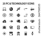 technology icons set.  | Shutterstock .eps vector #364708535