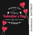 happy valentines day card with...   Shutterstock .eps vector #364708619