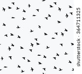 seamless pattern with flying... | Shutterstock .eps vector #364711325