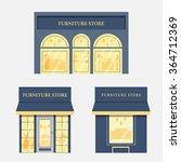 set of flat luxury furniture... | Shutterstock .eps vector #364712369