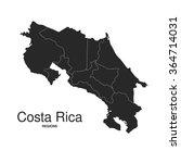 costa rica silhouette regions... | Shutterstock .eps vector #364714031