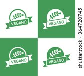 icons vegan food  set of badges ... | Shutterstock .eps vector #364720745