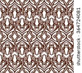seamless doodle pattern scetch... | Shutterstock .eps vector #364724081
