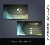 presentation of visiting card... | Shutterstock .eps vector #364726241