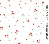 small red flowers pattern... | Shutterstock .eps vector #364727489