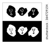 drunk wine glasses logo cafe... | Shutterstock .eps vector #364729154