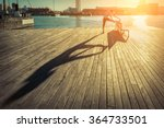 Woman Exercise On The Bridge...