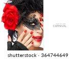 carnival concept. glamorous... | Shutterstock . vector #364744649