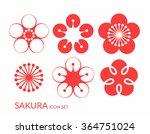 cherry blossom. sakura. icon... | Shutterstock .eps vector #364751024