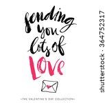 sending you lots of love.... | Shutterstock .eps vector #364752317