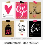 valentines day gift tags and... | Shutterstock .eps vector #364753064