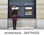 girl at atm | Shutterstock . vector #364754201