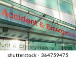 Small photo of The sign for an Accident and Emergency Department.