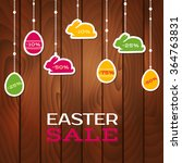 Easter Sale Poster With Hangin...