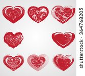 set of hearts . grunge stamps... | Shutterstock .eps vector #364768205