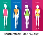 vector illustrations of female... | Shutterstock .eps vector #364768559