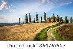 Tuscan Landscape With Farmhous...