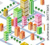 business isometric city with... | Shutterstock . vector #364773641