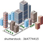business isometric city with... | Shutterstock . vector #364774415