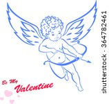 cupid drawing for a very sweet... | Shutterstock .eps vector #364782461