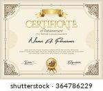 certificate of achievement... | Shutterstock .eps vector #364786229