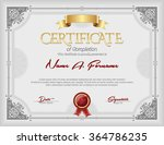 certificate of completion... | Shutterstock .eps vector #364786235