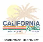 california republic typography. ... | Shutterstock .eps vector #364787429