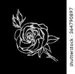 Glowing Silver Rose On...