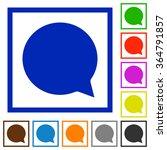 set of color square framed chat ...