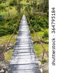suspension bridge over toachi... | Shutterstock . vector #364795184
