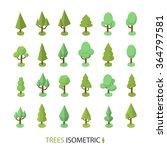 isometric vector tree set | Shutterstock .eps vector #364797581