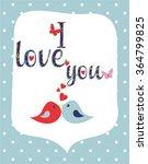 i love you vector  illustration | Shutterstock .eps vector #364799825